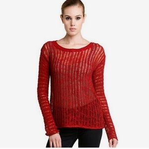 Alice + Olivia Berry Open knit Pullover Sweater.